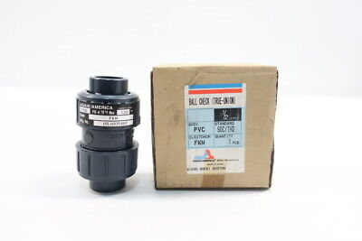 Asahi 1213-005 Pvc Ball Check Valve 1/2in Socket