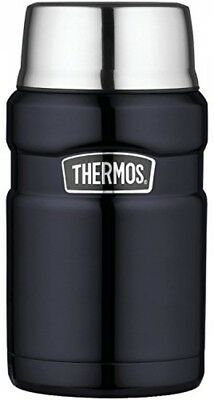 Thermos Stainless King 24Ounce Food Jar Midnight Blue New Free Shipping