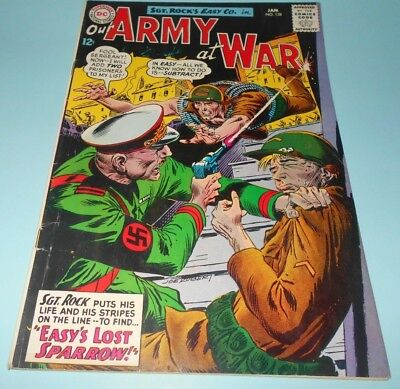 1964 DC Our Army at War Comic Book #138 with Sgt Rock
