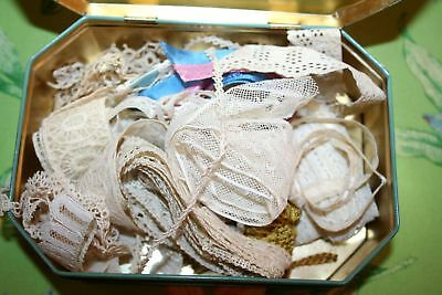 ~ANTIQUE~ VICTORIAN LACE Lot TRIM Ribbon EDGING tassel assorted for DOLLs