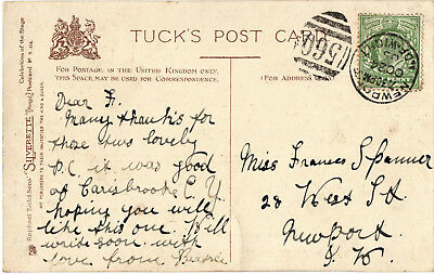 Newport, Isle of Wight 560 1905 Duplex postmark on Tuck postcard of Lily Brayton