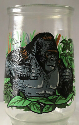 Vintage Welch's Jelly Jar Glass ENDANGERED SPECIES #8 Mountain Gorilla