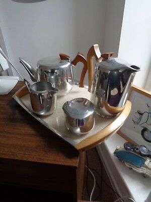 Picquot ware tea set complete with tray.. tea pot is Newmaid all clean condition