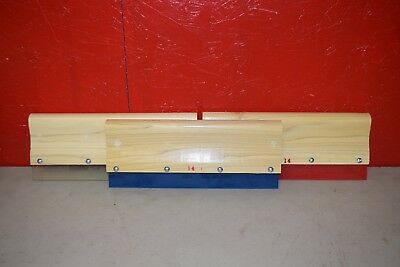 "14"" Squeegee Screen Printing Bolt On Blade Lot of 3"