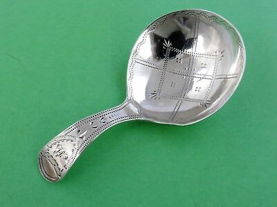 Handsome Georgian SILVER TEA CADDY SPOON, London 1796 George Wintle ANTIQUE