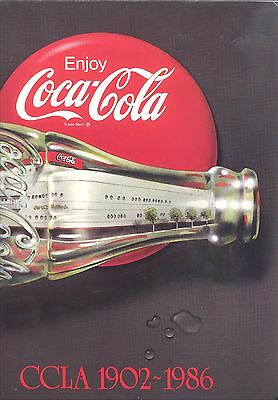 Coca-Cola Ccla 1902-1986.. The Southern California Promise... 82 Pages