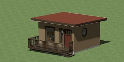 Tiny Guest House  Plans With  Free  Energy Saving Checklist