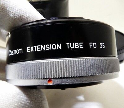 Canon FD 25 Lens Adapter Macro Extension tube Ring Made in Japan OEM