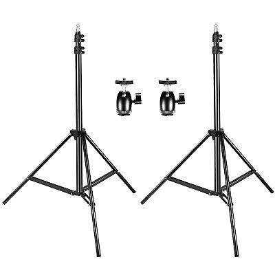 "Neewer 2 Packs 75""/190cm Light Stands with Ball Head Hot Shoe Adapters"