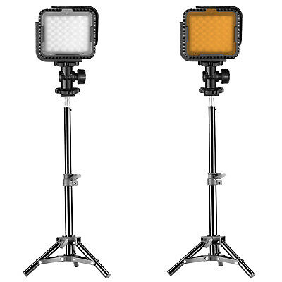 Neewer 2 Packs CN-LUX360 Dimmable LED Video Light and Light Stand Lighting Kit