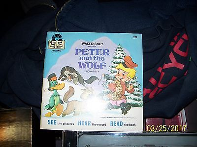 "see,hear,read Walt Disney's""Peter&The Wolf""33 1/3 rpm excellent shape circa 1977"