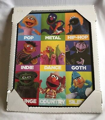 Sesame Street Framed Picture 16x20 Music Hip Hop Metal Country Indie Pop Goth