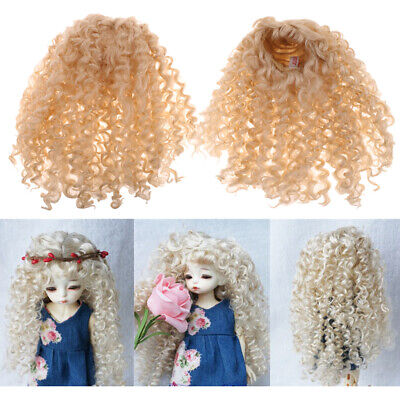 1/6 BJD Doll Curly Wig Golden Hairpiece for DOD LUTS DZ Hair Making Supplies