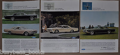 1966 LINCOLN CONTINENTAL advertisement x3, Lincoln Continental, 4 & 2-door model