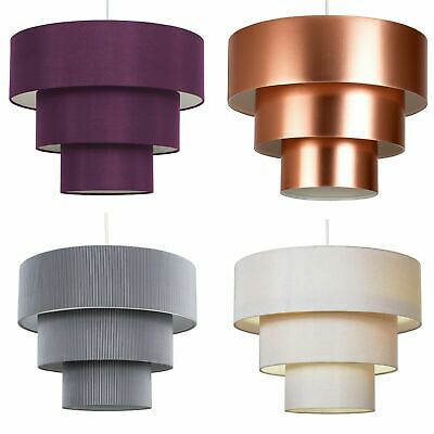 NEW Modern 3 Tier Ceiling Pendant Cotton Lamp Shades Easy Fit Home Lighting NEW