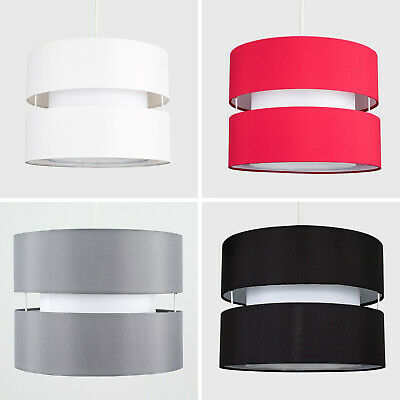 Modern 2 Tiered Cylinder Ceiling Pendant Light ShadesLounge Lighting Lampshade