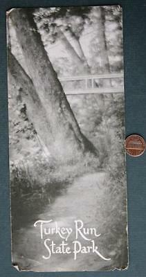 1949 Marshall,Indiana Turkey Run State Park Brochure with GREAT photos-VINTAGE!