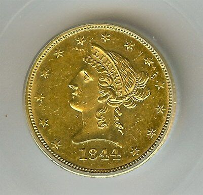 1844-O Liberty $10 Gold Icg Ms61  Rarity Unc - Semi Pl - Few Known This Nice!