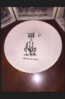 Cats of Paris PLATE MUSIC KITTY SINGING HECTOR LE TENOR KISS THAT FROG WHIMSY