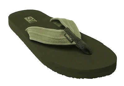 35a065fe9389 TEVA MEN S MUSH II Flip Flop Canvas Thong Flip Flop Sandals Brown ...