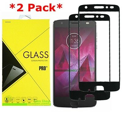 2X FULL COVER Premium Tempered Glass Screen Protector For Motorola Moto Z2 Force