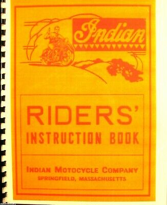 1946-1947 indian motorcycle riders hand book for the 74-inian 4-35