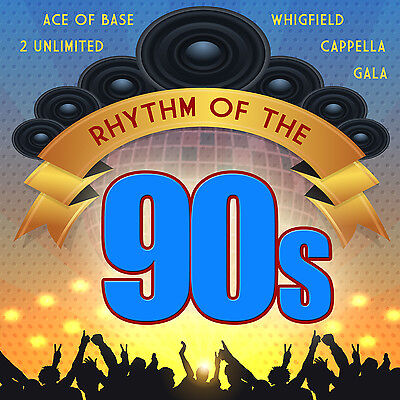 CD Rhythm Of The 90s von Various Artists 2CDs mit  Ace of Base, 2 Unlimited