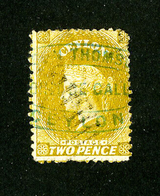 Ceylon Stamps # 49 Fresh Used Scott Value $275.00