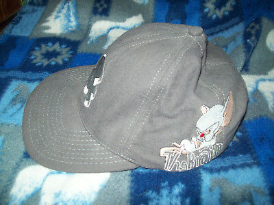 Vintage 1993 Animaniacs PINKY & THE BRAIN Gray Snap Back Closure Cap Hat NEW