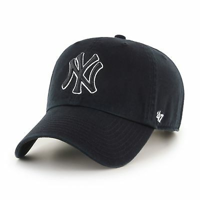 MLB New York Yankees NY Cap black white Basecap adjustable Baseballcap cleanup
