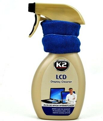 K2 LCD DISPLAY CLEANER +Cloth TV PLASMA Screen LED TFT Car Home TABLET PC MOBILE