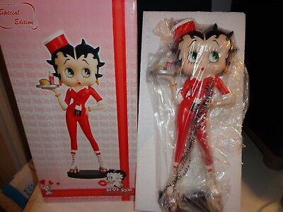 Betty Boop Roller-skate Waitress Figure - 12 Inches Tall