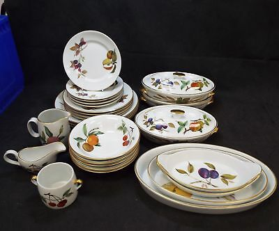 ROYAL WORCESTER Fine Porcelain 27 Pieces Evesham Tableware Made In England - S75 : evesham tableware - pezcame.com