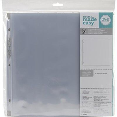 We R Memory Keepers 12 x 12 inch 3-Ring Album Page Protectors, 10 PK