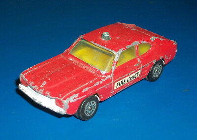#### Vintage Corgi Juniors Ford Capri Fire Chief Car Made In Gt Britain