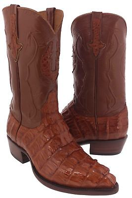 Mens Genuine Chedron Crocodile Tail Alligator Western Cowboy Boot Exotic
