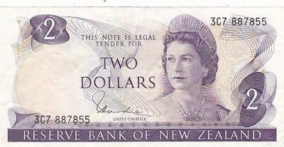 1977-81 New Zealand $2 Note, Pick 164d