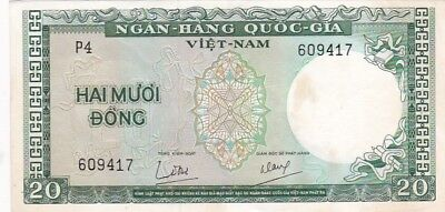 1964 South Viet-Nam 20 Dong Note, Pick 16a