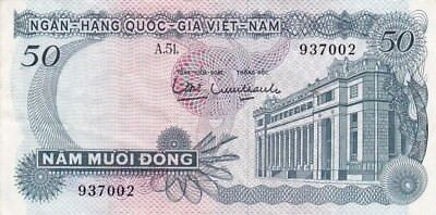 1969 South Viet-Nam 50 Dong Note, Pick 25a