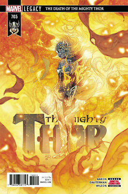 Mighty Thor #705 Marvel Legacy Death Of Mighty Thor! Pt 6 Aaron Dauterman 032118
