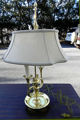 Baldwin Brass Table Lamp Two Candlestick Vintage Works 25 Inches High