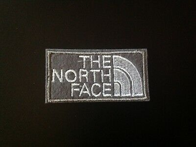 "2.25"" THE NORTH FACE GRAY LOGO Embroidered Iron On/Sew On Patch USA SELLER"