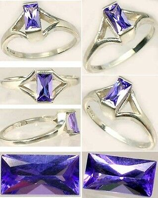 Tanzanite Ring ½ct Vintage Flawless Purple-Blue Kilimanjaro Tanzania Handcrafted