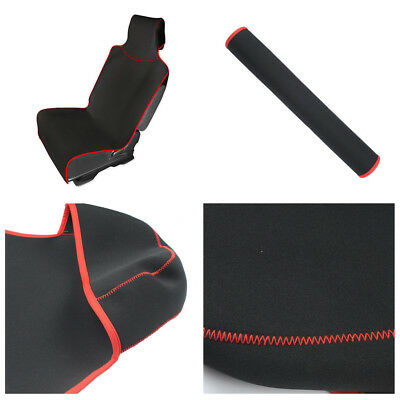 Black Car Front Seat Cover Protector Cushion Waterproof Diving Material 150*65CM