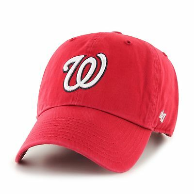 MLB Washington Nationals Cap rot Basecap adjustable Baseballcap cleanup Logo