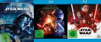 Star Wars: Episode 4 + 5 +6 + 7 + 8 Set # 7-BLU-RAY-SET-NEU