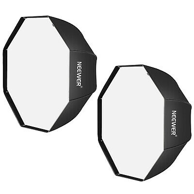 Neewer 2-pack 32 inch Black Octagonal Umbrella Softbox for Studio Flash