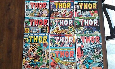The Mighty Thor Bronze Lot  #196,198,209,213,216,220,223,228,231,233 Marvel