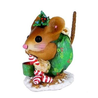 Wee Forest Folk NM-1a Christmas Nibble Mouse - green
