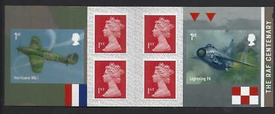 Great Britain 2018 Raf Centenary Self Adhesive Booklet Unmounted Mint, Mnh